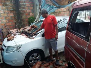 Rayo causa daños en una vivienda en el barrio San Agustín de Manta