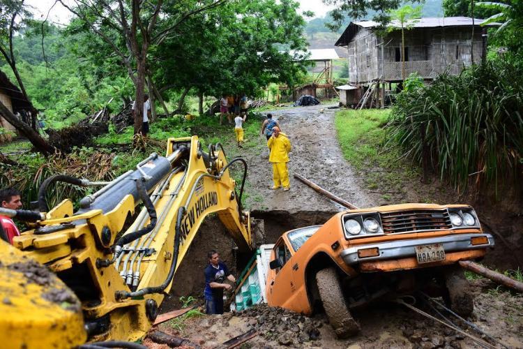 El sitio El Tigre de la parroquia Calderón, en Portoviejo, afectado por las lluvias