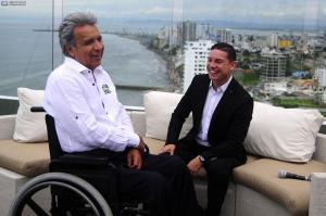Lenín Moreno se reunió con Iván Espinel en un hotel de Manta