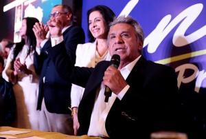Moreno superó a Lasso con 1.063.940 votos en la primera vuelta, según el CNE