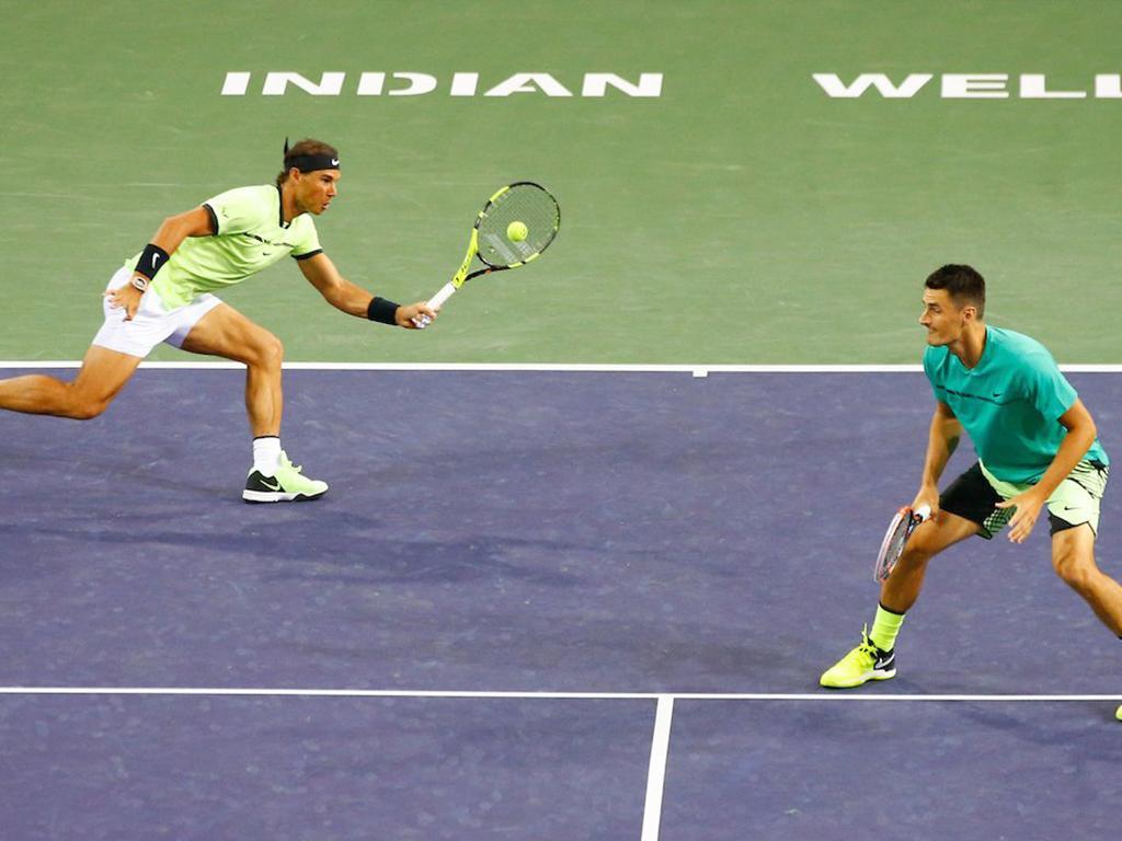 Nadal y Tomic avanzan  en dobles  en Indian Wells