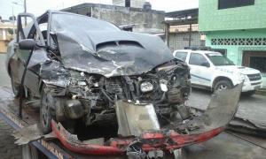 Tres personas resultan heridas tras accidente de tránsito en El Carmen