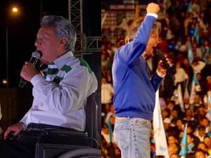 Candidatos presidenciales cierran campaña en Manabí y Pichincha
