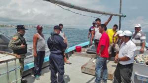 Operativo en el mar