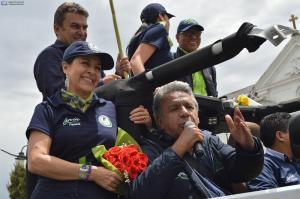 Lenín Moreno se compromete a respetar resultados de la segunda vuelta electoral