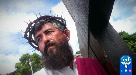 Viacrucis: Manabitas expresan su fe en las calles de varios cantones
