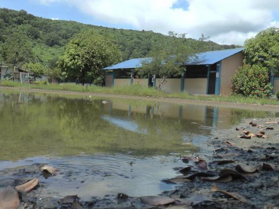 Planteles educativos aún afectados por lluvias