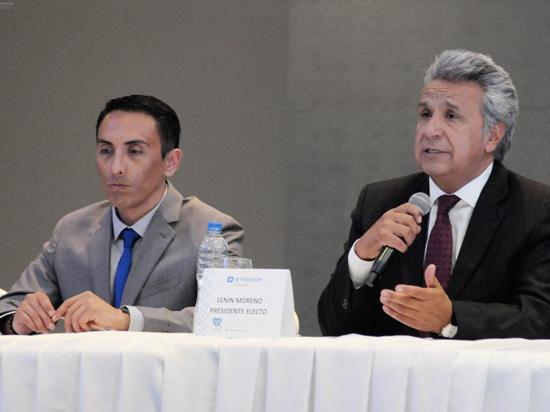 Organizaciones  felicitan al presidente electo Lenín Moreno