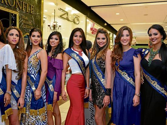 Candidatas conocen la corona del Miss Ecuador 2017