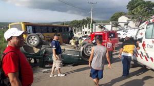 Accidente de tránsito deja una persona herida en Montecristi