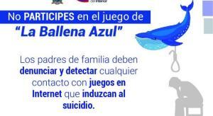 Alertan en Ecuador sobre peligro que implica el juego de 'La Ballena azul'