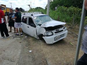 Accidente de tránsito en la vía Chone-Flavio Alfaro deja una persona herida