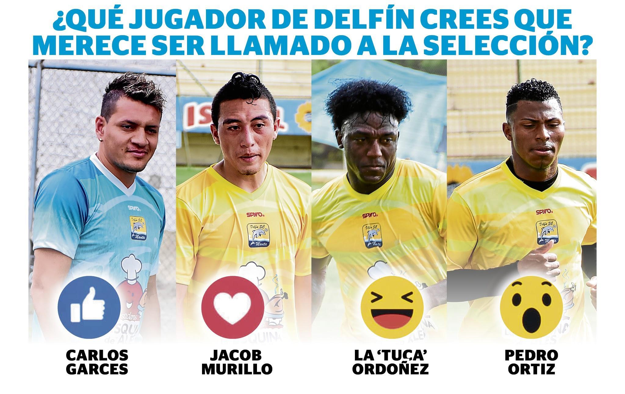 Encuesta: ¿A qué jugador del Delfín te gustaría ver en Selección de fútbol de Ecuador?
