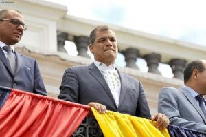 El presidente Rafael Correa realiza su último cambio de guardia