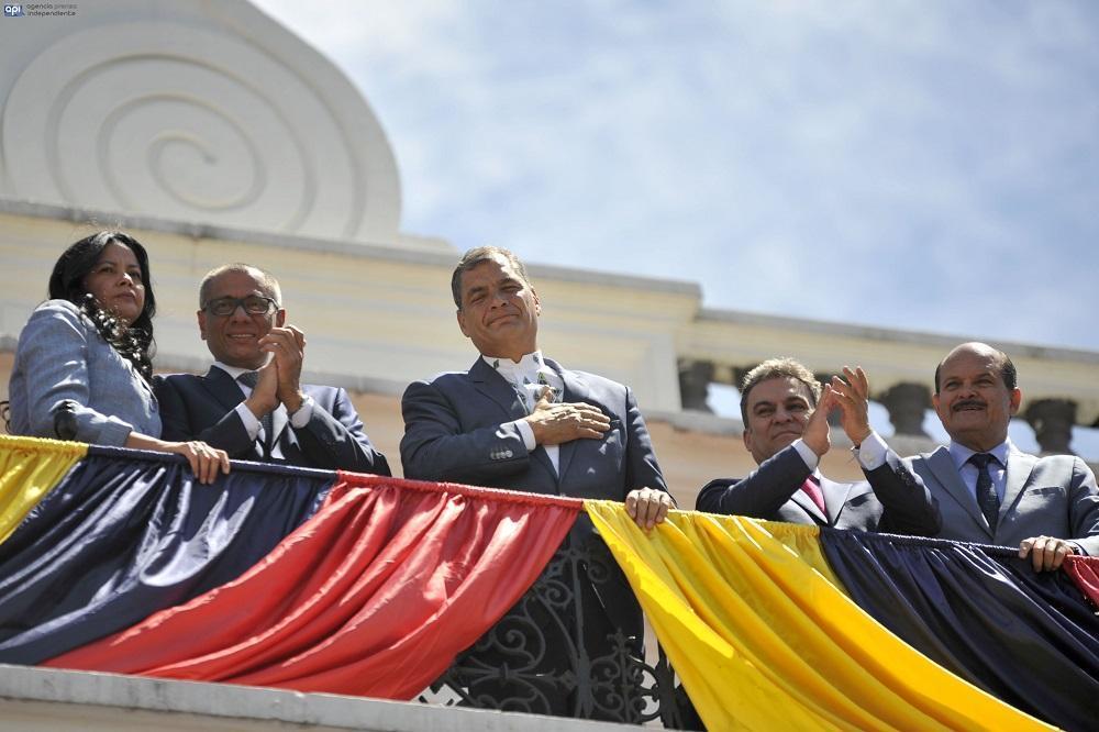 Rafael Correa realiza el último cambio de guardia de su gobierno