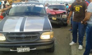 Accidente de tránsito en el malecón de Bahía no dejó heridos