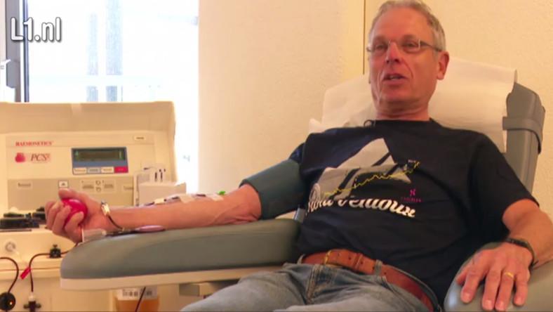 Se retira el mayor donante de sangre de Holanda, con un récord de 333 litros