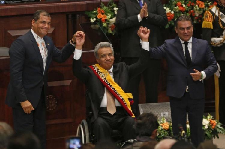 Lenín Moreno fue posesionado como el 44° presidente del Ecuador