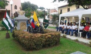 Realizan acto por los 195 de la Batalla del Pichincha, en Bahía de Caráquez
