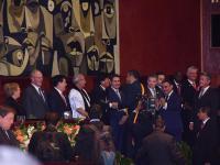 10 presidentes en  el cambio de mando