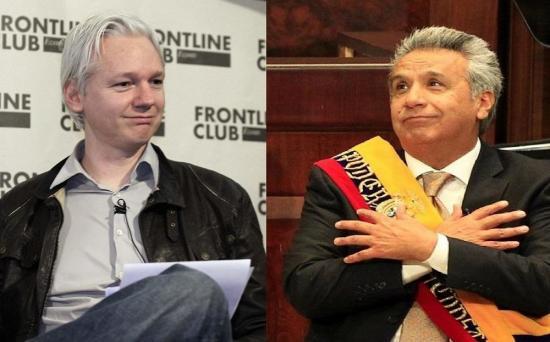 Julian Assange a Moreno: 'Ni Estados Unidos me tilda de hacker'