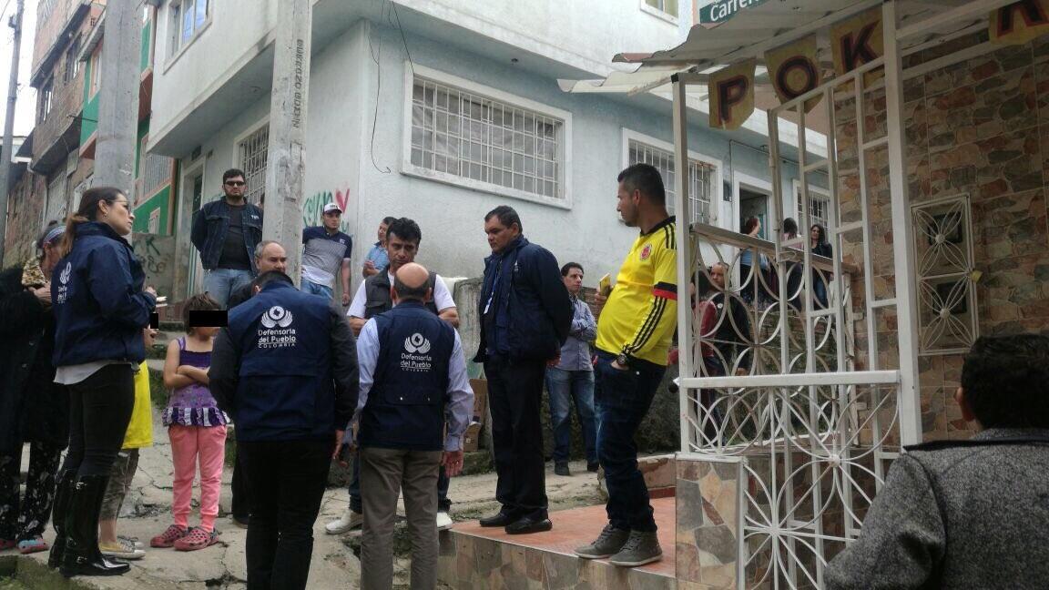 Explosi n de una granada en un barrio de bogot deja siete for Barrio ciudad jardin sur bogota