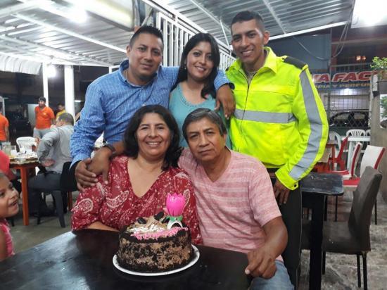 Digna Quiroz celebró con su familia
