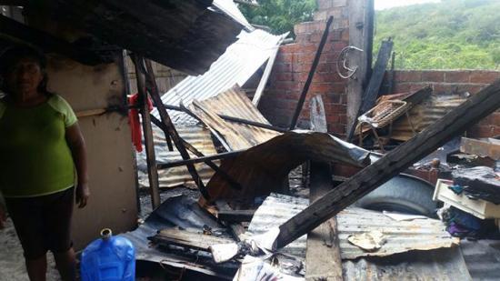 Incendio consumió  casa en Balsamaragua
