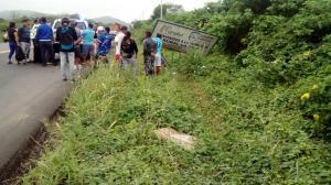 Guardia muere tras accidente en la vía Montecristi-La Pila