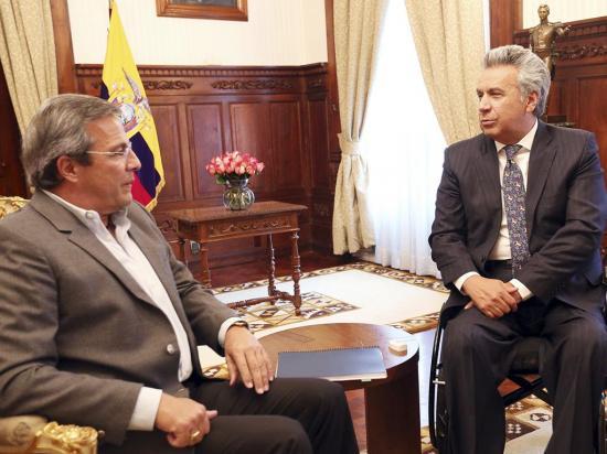 El presidente Moreno se reunió con Jimmy Jairala y Dalo Bucaram