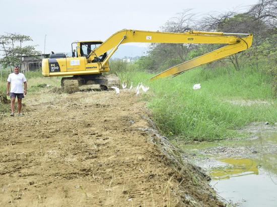 De inundación a sequía en Rocafuerte