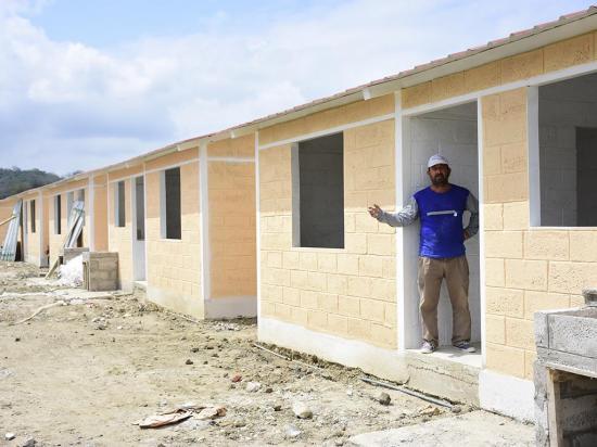 San Jorge: Construyen 37 casas para personas con discapacidad
