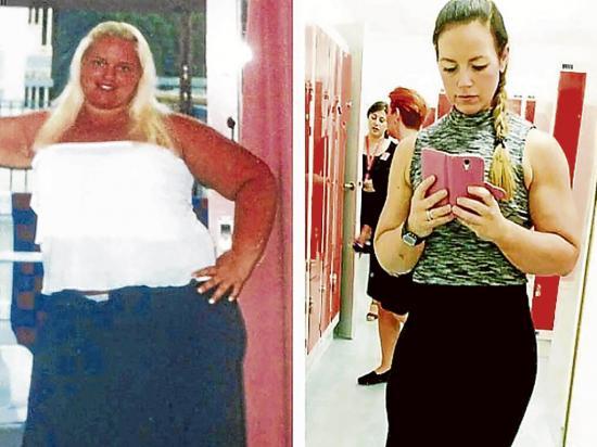 Bajó 80 kilos y se casó con su entrenador
