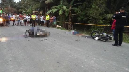 Dos motociclistas mueren tras choque en la vía Riochico - Zapote