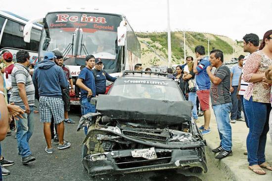 Tres heridos en un triple choque en la Circunvalación