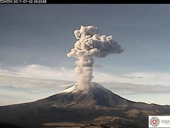"""El """"cerro que humea"""" tuvo tres explosiones volcánicas"""