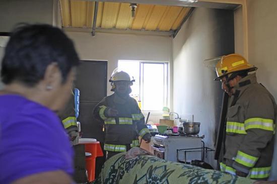 Fuego en una casa