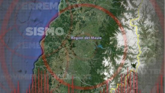 Temblor de magnitud 5,8 sacude regiones chilenas de Maule y Biobío