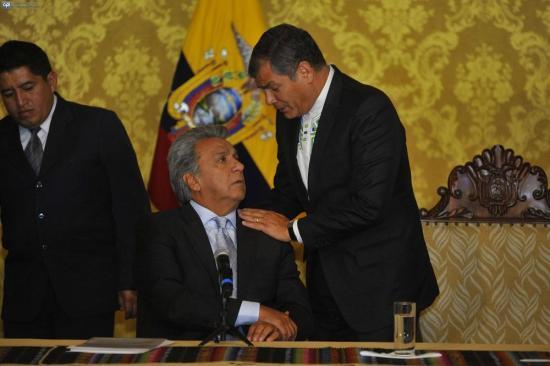 """Lenín Moreno responde a tuit de Rafael Correa: """"Para el odio, no cuenten conmigo'"""