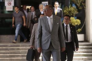 El vicepresidente Jorge Glas rinde su versión en la Fiscalía por caso Odebrecht
