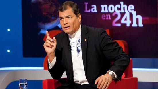 El expresidente Rafael Correa brindará esta noche dos entrevistas