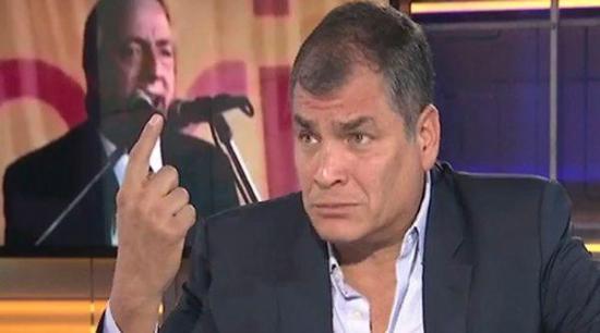Expresidente Correa cree que Lenín Moreno está cruzando una 'línea roja'
