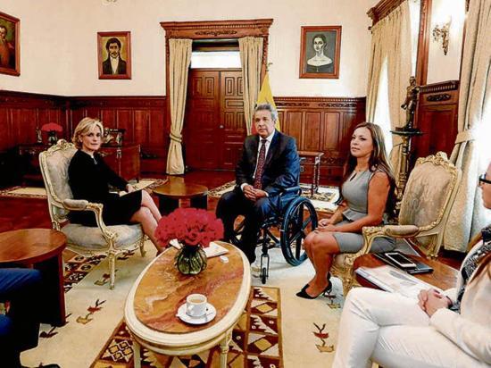 Viteri se reunió con el presidente e invitan a Lasso