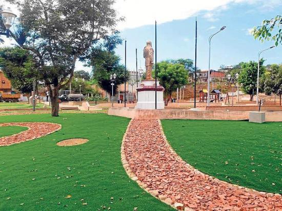 La remodelación del parque Eloy Alfaro  lista este sábado
