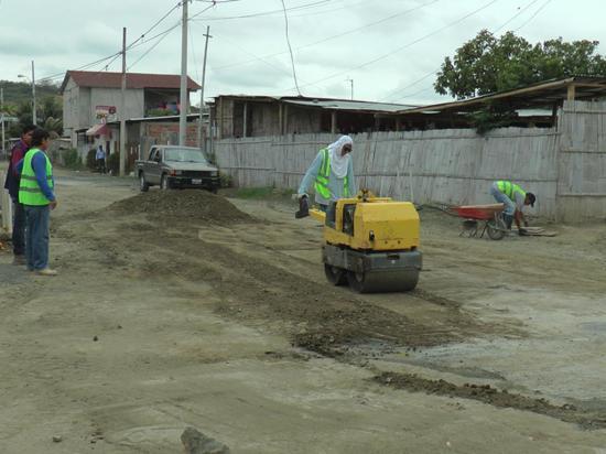 Cambian tubería y  construyen colector en la ciudadela San Jorge