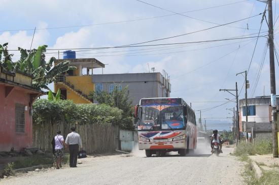Casi se quedan sin buses