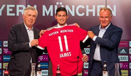 James Rodríguez es presentado como el nuevo refuerzo del Bayern de Múnich