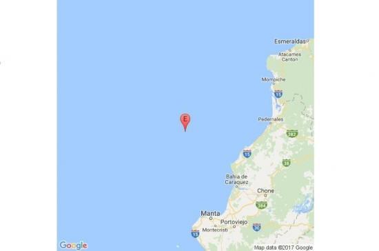 Un sismo de 3,8 grados se registra frente a las costas de Manabí