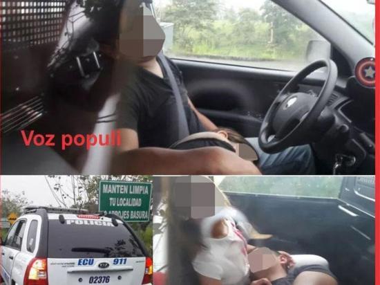 Hallan dormidos a dos policías en un patrullero junto a menores de edad