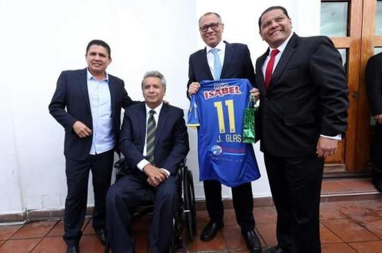 El presidente de Delfín, José Delgado, fue invitado por Lenín Moreno al Palacio de Carondelet